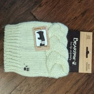 NEW Bearpaw Ivory Sweater Chunky Boot Toppers